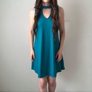 NWT Flare Cut Out Sleeveless Stretch Dress o